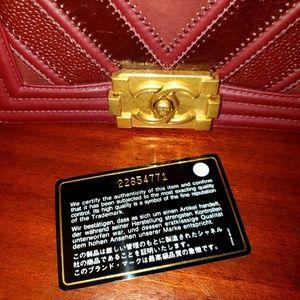 7f00c5d6ecc9 CHANEL Bags | Authentic Boy Chevron Mixed Leather Maroon | Poshmark